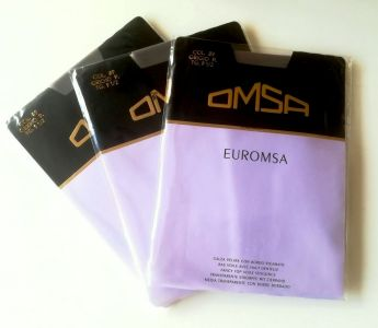 Vintage Euromsa 20 den stockings in grey colour - 3 pairs!