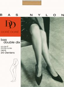 Vintage Bas Double Dix RHT stockings by Dore Dore