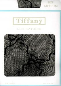 Vintage Tiffany lace seamed pantyhose