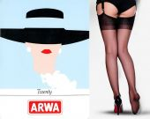 Vintage RHT 20 denier Plain Knitt Arwa stockings