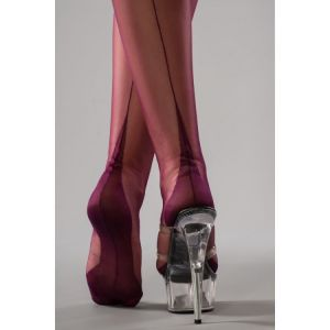 Gio Fully Fashioned Point Heel Plum