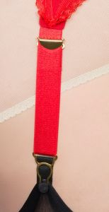 19 mm red wide elastic