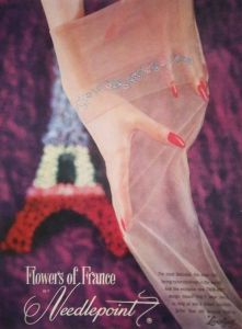 Vintage Fully Fashioned Flowers of France nylons