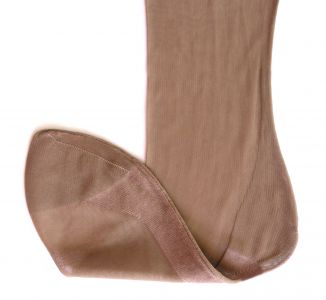Vintage Fully Fashioned stockings Queen Size (light brown)
