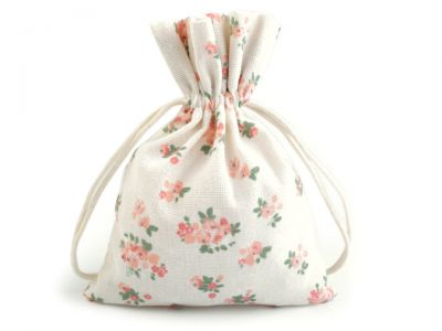 Cotton bag with floral print